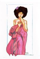 Mucha's Moon inspired Afro by innerpeace1979