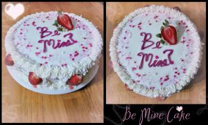 Be Mine! Valentine's Cake for Kelsey! by Perry-the-Platypus