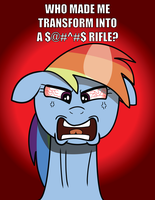 Rainbow Dash Flips Out over her Transformers Cameo by daimando