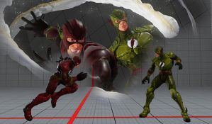 The Flash In Street Fighter V by THEJAMK