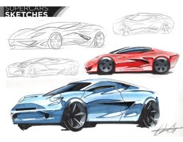 Super Car Sketches by Dannychhang