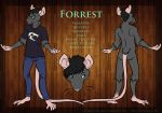 [Commission] Forrest Character Sheet by brody-bot