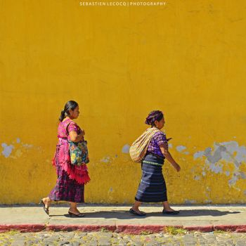 Guatemala | Yellow Wall by lux69aeterna