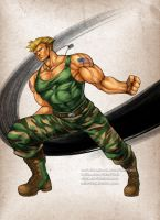 Street Fighter Guile by virak
