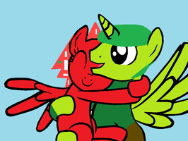 Mlp Flaky And Flippy by brutallightsparcake