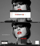 Black Red-X Theme For Windows 8.1 by cu88