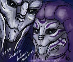 Saren and Amonis 2180 by Yanarada