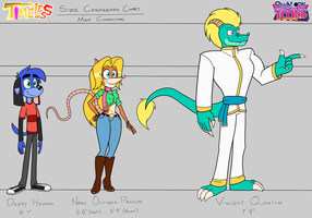 TIMELESS- Main Characters Size Comparison Chart by BluMoonToons