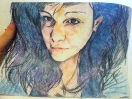 Amanda In Colored Pencil by telb