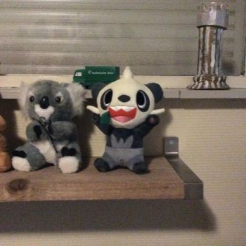 My Pancham plushie by Officer-Luke