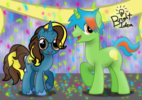 A Couple of Bright Ideas (Happy B-day Caps-Lock) by CartoonConnoisseur