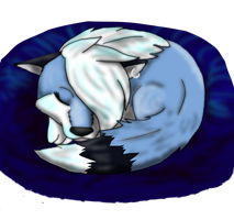 All curled up, waiting for you by BlueSkyWolf
