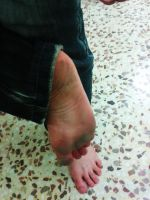 Barefoot shopping...dirty soles by PhilsPictures