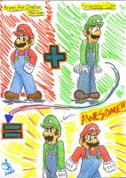 Mario + Luigi... by chocolatetater-tot