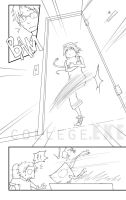 College EXE page 2 lineart by jojostory