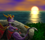 Spyro's Sunset by IceFlame1019