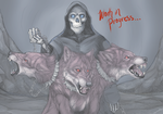 Reaper and Cerberus WIP 2 by Daexmos