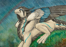 ACEO/ATC: Rainy by Samantha-dragon