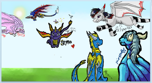 iscribble dragon collab by Minerea