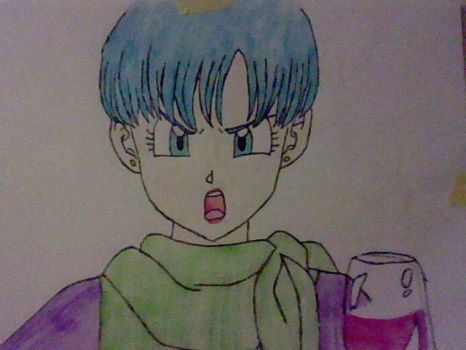 Bulma Angry by vegetaloverforever
