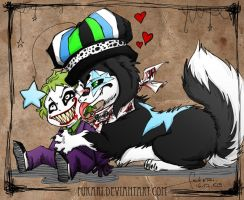 Art Trade - Star and Joker by Fukari