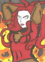 Dark Phoenix sketch card by Elvatron