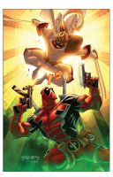 Deadpool vs Shatterstar by RossHughes