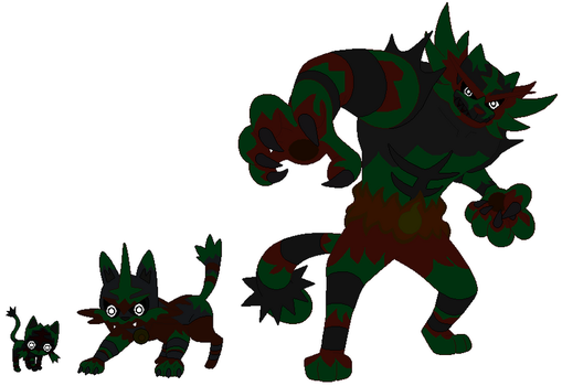 Phantom Litten,Torracat and incineroar by pokekid333