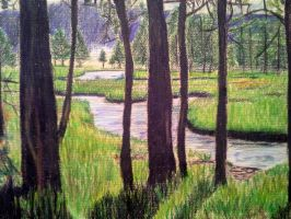 landscape in color pencil by Alejandro21r