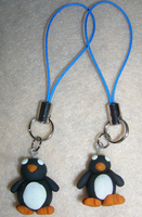 Penguin Phone Charms by mistoftime