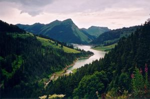river born of the hills by alenia-stock