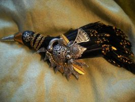 The Crow Brooch by SpiffsHexapodS