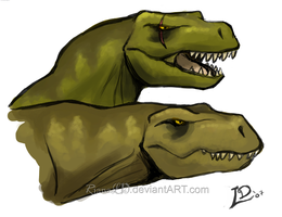 TRex Couple by RianaLD