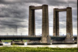 The Old Sheppey Bridge by saltedm8
