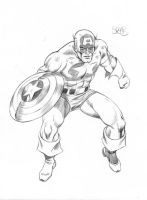 Captain America in action by markman777