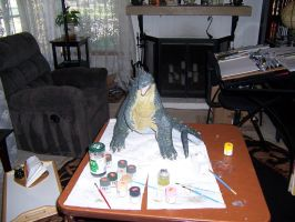 Godzilla 2014 Resin Model 36 by cwpetesch
