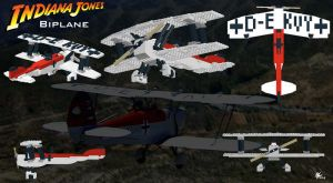 Lego - Indiana Jones Biplane by Stitchfan