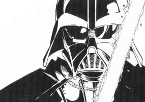 sketchy : Darth Vader by KidNotorious