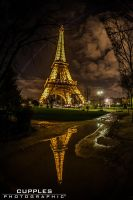 Eiffel Tower Reflection by cupplesey