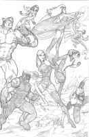 Xmen vs Brotherhood 2 by BrianVander