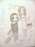 Kurt and Courtney chibi by CobainLives