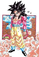 Dragonball GT - Son Goku Super Sayan 4 Colour by TriiGuN