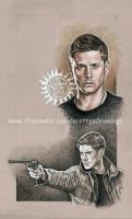 Dean Winchester study wip 2 by scotty309