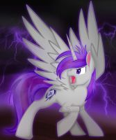 Giftart: The thunder pony by lizzytheviking