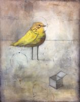 Yellow Bird with Open Box by SethFitts