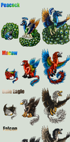 Adopt -Jungle Dragon- Birds by elen89