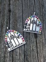 Rainbow Fairy Doors by BrokeCollegeCrafters