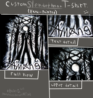Custom Slenderman T-shirt  (request) by NinjaFerret22