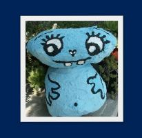 alien painted on the stone by MrsEfi