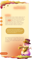 Snowman at sunset journal skin by Nesmaty